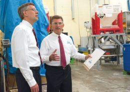 Congressman Erik Paulsen recently toured Seacole's Plymouth-based plant.