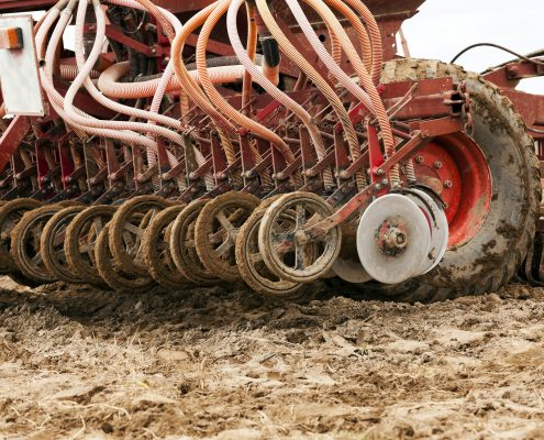Farm equipment pressure washing