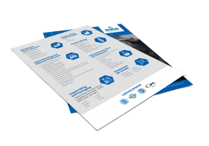Seacole Specialty Chemical Contract Manufacturing Flyer Mockup