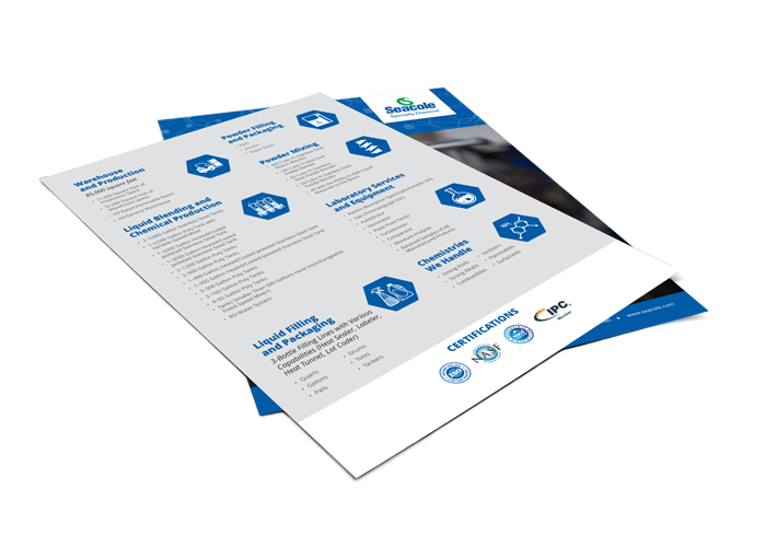 Seacole Specialty Chemical Contract Manufacturing Flyer